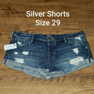 Silver Jean Shorts Breccan Size 29